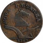 1787 New Jersey Copper. Maris 34-J, W-5115. Rarity-3. Deer Head. VG-8 (PCGS).