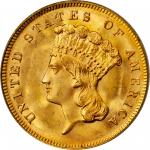1878 Three-Dollar Gold Piece. MS-65 (PCGS). OGH.