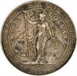 1912-B年英国贸易银元站洋壹圆银币。孟买铸币厂。 GREAT BRITAIN. Trade Dollar, 1912-B. Bombay Mint. PCGS EF-45.
