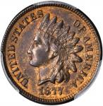1877 Indian Cent. MS-63 RB (PCGS). CAC.