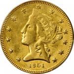 1861 Clark, Gruber & Co. $5. K-6. Rarity-4. MS-61 (PCGS).