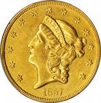 1857-O自由帽双鹰金币 PCGS AU Details