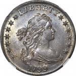 1799 Draped Bust Silver Dollar. BB-164, B-17. Rarity-2. AU-58 (NGC).