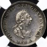 GREAT BRITAIN George III ジョージ3世(1760~1820) Farthing in Silver 1799  NGC-PF61 Proof AU