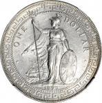1897-B年英国贸易银元站洋壹圆银币。孟买铸币厂。 GREAT BRITAIN. Trade Dollar, 1897-B. Bombay Mint. Victoria. NGC Unc Detai
