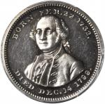 1799 (ca. 1864) Washington - General of the American Armies Medalet. Silver. 19 mm. Musante GW-748,