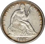 1887 Liberty Seated Half Dollar. WB-101. VF-30 (PCGS).
