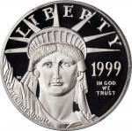 Three-Piece Set of 1999-W Platinum Eagles. Proof-69 Deep Cameo (PCGS).