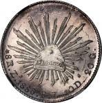 墨西哥。萨卡特卡斯。1886年8雷阿尔。