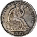 1889 Liberty Seated Half Dollar. Proof. AU Details--Cleaned (PCGS).