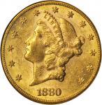 1880-S Liberty Head Double Eagle. MS-60 (NGC).
