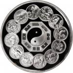 1992年中国生肖币发行12周年纪念银币1公斤 NGC PF 67