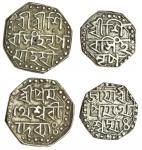 Assam, Śiva Simha (1714-44), octagonal Half-Rupee, 5.71g, undated, citing Queen Pramatheśv