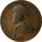 Undated (ca. 1795) North Wales Halfpenny. Musante GW-51, Baker-34, W-11150. Two Stars. Copper. Plain