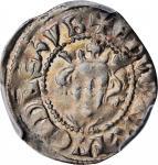 GREAT BRITAIN. Penny, ND (ca. 1307-09). Canterbury Mint. Edward II. PCGS AU-50 Gold Shield.