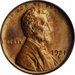 1921-S Lincoln Cent. MS-64 RD (PCGS).