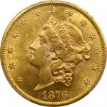 1876-CC Liberty Head Double Eagle. MS-61 (PCGS).