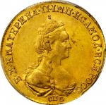 RUSSIA. 5 Ruble, 1782-CNB. Catherine II (The Great) (1762-96). PCGS AU-55 Secure Holder.