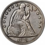 1873-CC Liberty Seated Silver Dollar. EF-40 (PCGS).