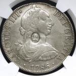 GREAT BRITAIN George III ジョージ3世(1760~1820) Dollar ND(1797) NGC-VF DetailsRepaired 洗浄,縁にアタリ Host coin