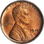 1914-D Lincoln Cent. MS-65 RB (PCGS).