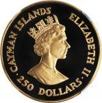 CAYMAN ISLANDS. 250 Dollars, 1987. London Mint. NGC PROOF-69 Ultra Cameo.