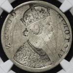 "INDIA British-India イギリス領インド Rupee ND(1862) NGC-VF Details""Scratches"" Mint Error"" Reverse Brockage"""