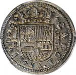 SPAIN. 4 Reales, 1684/63-BR. Segovia Mint; Mintmark: Aqueduct. Charles II. PCGS MS-63 Gold Shield.