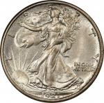 1921-D Walking Liberty Half Dollar. MS-65 (NGC). CAC.