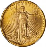 1911-D/D Saint-Gaudens Double Eagle. FS-501. Repunched Mintmark. MS-66 (NGC).