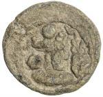 SASANIAN KINGDOM: Varhran IV, 388-399, lead 17mm (2.91g), G-type I, SNS—, king s bust right, orname