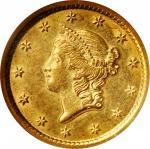 1853-O Gold Dollar. MS-61 (NGC). OH.