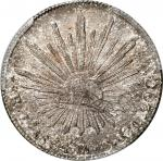 MEXICO. 8 Reales, 1864-Zs MO. Zacatecas Mint. PCGS MS-62 Gold Shield.