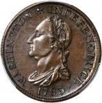 1783 (Circa 1860) Draped Bust Copper. Restrike. Musante GW-107, Baker-3, Vlack 17-L, W-10360. Rarity