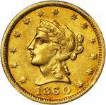 1860 Clark, Gruber & Co. $2.50. K-1. Rarity-4. AU-55 (PCGS). OGH.