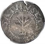 1652 Oak Tree Shilling. Noe-14, Salmon 11a-Gi, W-530. Rarity-4. Spiny Tree. VF-20 (PCGS).