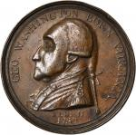1790 Manly Medal. Bronze. 47.8 mm. Baker-61B, Musante GW-10. Rarity-6. Extremely Fine.