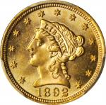 1892 Liberty Head Quarter Eagle. MS-65 (PCGS).