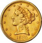 1885年自由帽半鹰金币 PCGS MS 65