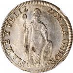 PERU. 8 Reales, 1833-LIMA MM. Lima Mint. NGC MS-62.