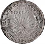 MEXICO. Guerrero. Peso, 1914. NGC MS-63.