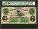 IRELAND, REPUBLIC. National Promissory Bond. 10 Dollars, 1867. P-S102r. Remainder. PMG About Uncircu