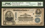 1902加州普莱斯维尔20美元 PMG VF 20