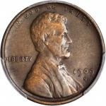 1909-S Lincoln Cent. V.D.B. EF Details--Cleaned (PCGS).