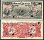 Banque dHochelaga, Canada, uniface obverse and reverse colour trial $50, 1 January 19-(14), black on