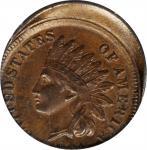 1881 Indian Cent--Struck 10% Off Center--AU-55 (PCGS).