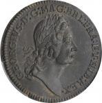 Undated (1722) Rosa Americana Twopence. Martin 2.1-B.1, W-1322. Rarity-3. Motto in Ribbon. AU-55 (PC