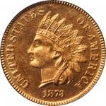 1873 Indian Cent. Snow-PR1, the only known dies. Close 3. Proof-66 RD Cameo (PCGS).