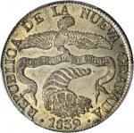 COLOMBIA.1839-RS 8 Reales. Bogotá mint. Restrepo 194.1. MS-64 (PCGS).