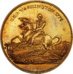 Circa 1859 Siege of Boston medalet. Musante GW-254, Baker-50B. Brass. Reeded edge. MS-63 (PCGS).